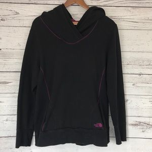THE NORTH FACE Black Hoodie Purple Accent Size XL